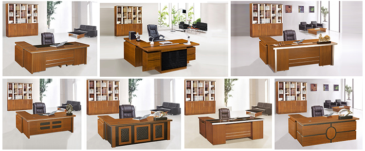Latest Modern Office Table Design L Shape Extension Table With Three Drawers