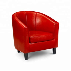 Best luxury single round comfy real leather tub chairs