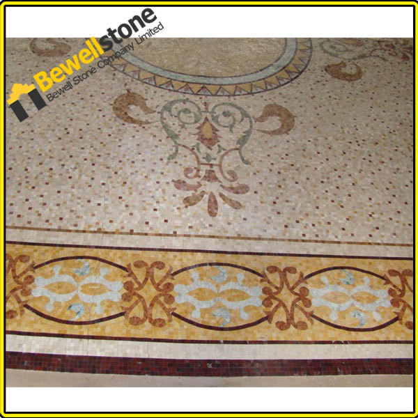 luxury design project geometric patterns waterjet stone tile for
