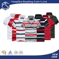 OEM China Factory Cheap Price Promotional Stripe Pattern 100% Cotton Men Polo Shirt Fabric