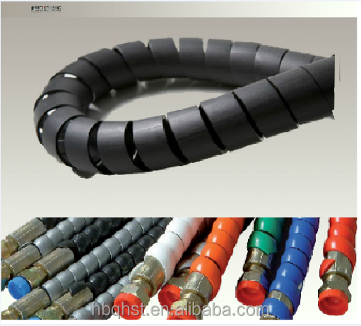 Spiral guard for protecting hydraulic hose/protective hydraulic hose sleeve/spiral cord protector