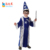 Hot sale children halloween carnival wizard cosplay long robe costumes magician witch cosplay costumes for boys
