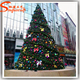 Guangdong led light decorate large tall metal trame artificial christmas trees for xmas shopping center decoration