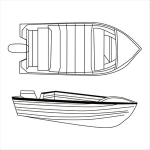 Wholesale Waterproof Basic V Hull boat cover in stock on