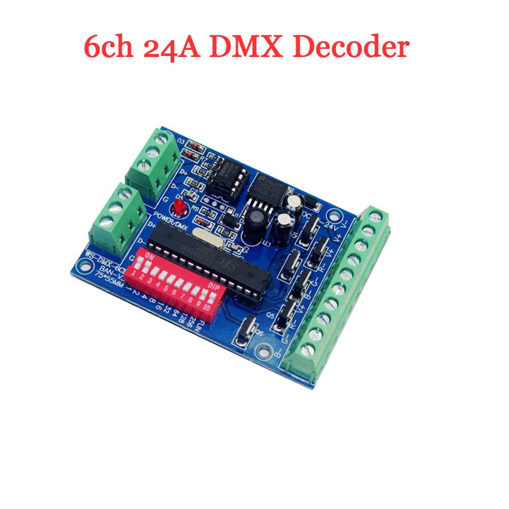 6ch 24a Led Dmx Decoder