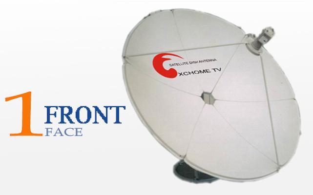 Large C Band 2.4m Satellite Dish Portable Antenna 8 Feet
