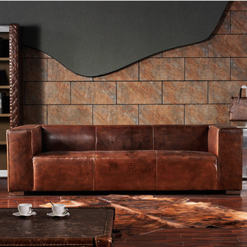 Retro Style Living Room Leather 3 Seater Sofa A115 Buy Retro Sofa