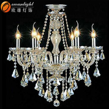 Lava lamp chandelier lamp large crystal chandeliers for hotels OMC030-6W