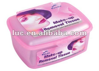 case packed makeup removal wet wipe /face makeup remover wet tissue/face cleanser tissue