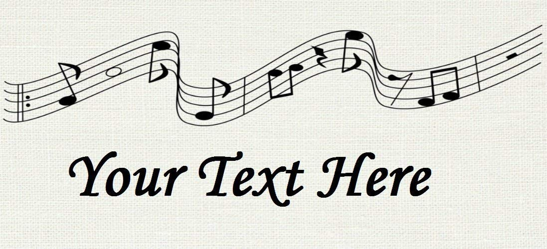 Buy Music Banner Cotton Fabric Labels For Handmade Items