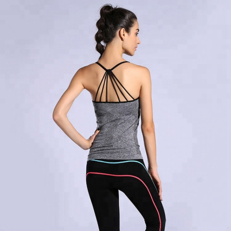 Custom Sport Sleeveless Shirt Women Fitness Tank Top