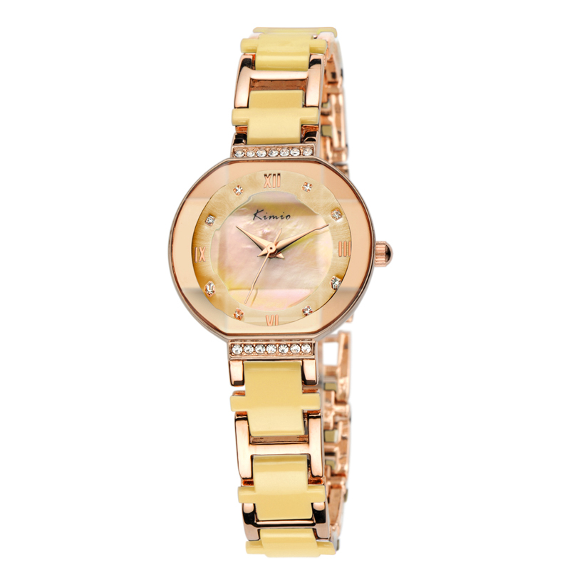 KIMIO Multicolor Dames Polshorloge Gold Japan Movt Waterdichte Rvs Strap Vrouwen Horloges