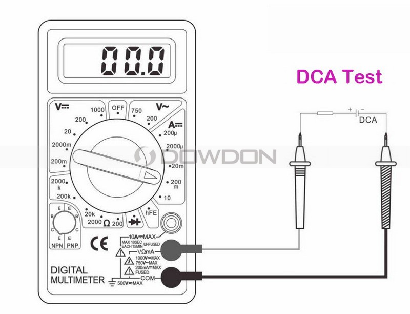 lcd digital voltmeter ammeter ohm multimeter dt830b