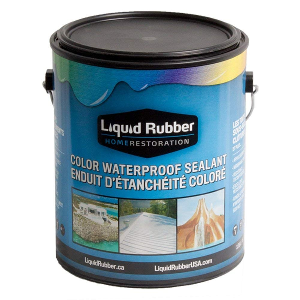 Liquid Rubber Color Waterproof Sealant/Coating (1 Gallon, Tan) - Environmentally Friendly - Water Based - No Solvents, VOC's or Harmful Odors - Easy to Apply - No Mixing - TOP SELLER