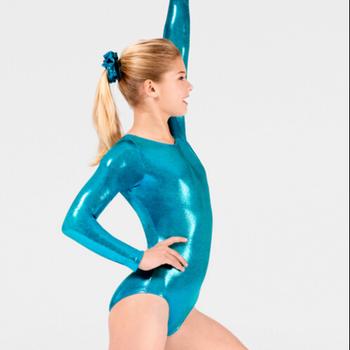 82a57fff1fcb Factory rhythmic gymnastics long sleeve leather leotards girls
