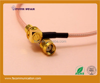 rp SMA Female Bulkhead Right Angle to rp SMA Male Connector 300mm RG316 rf Cable Assembly
