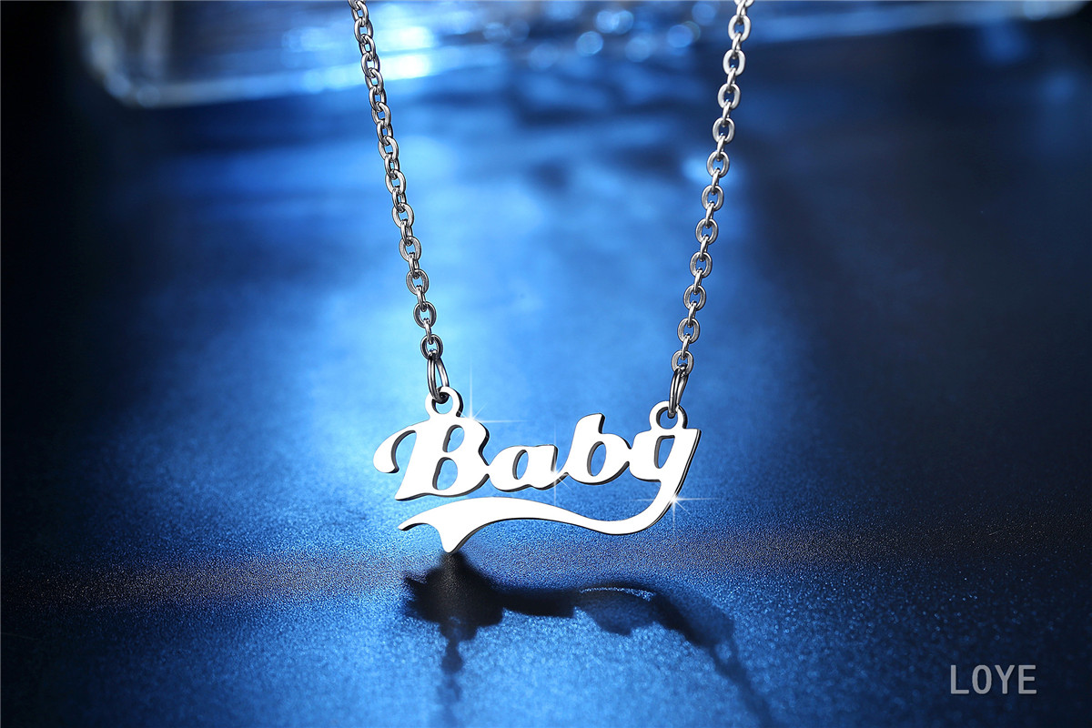 Baby 316L stainless steel necklace Valentine's Day gift for girlfriend