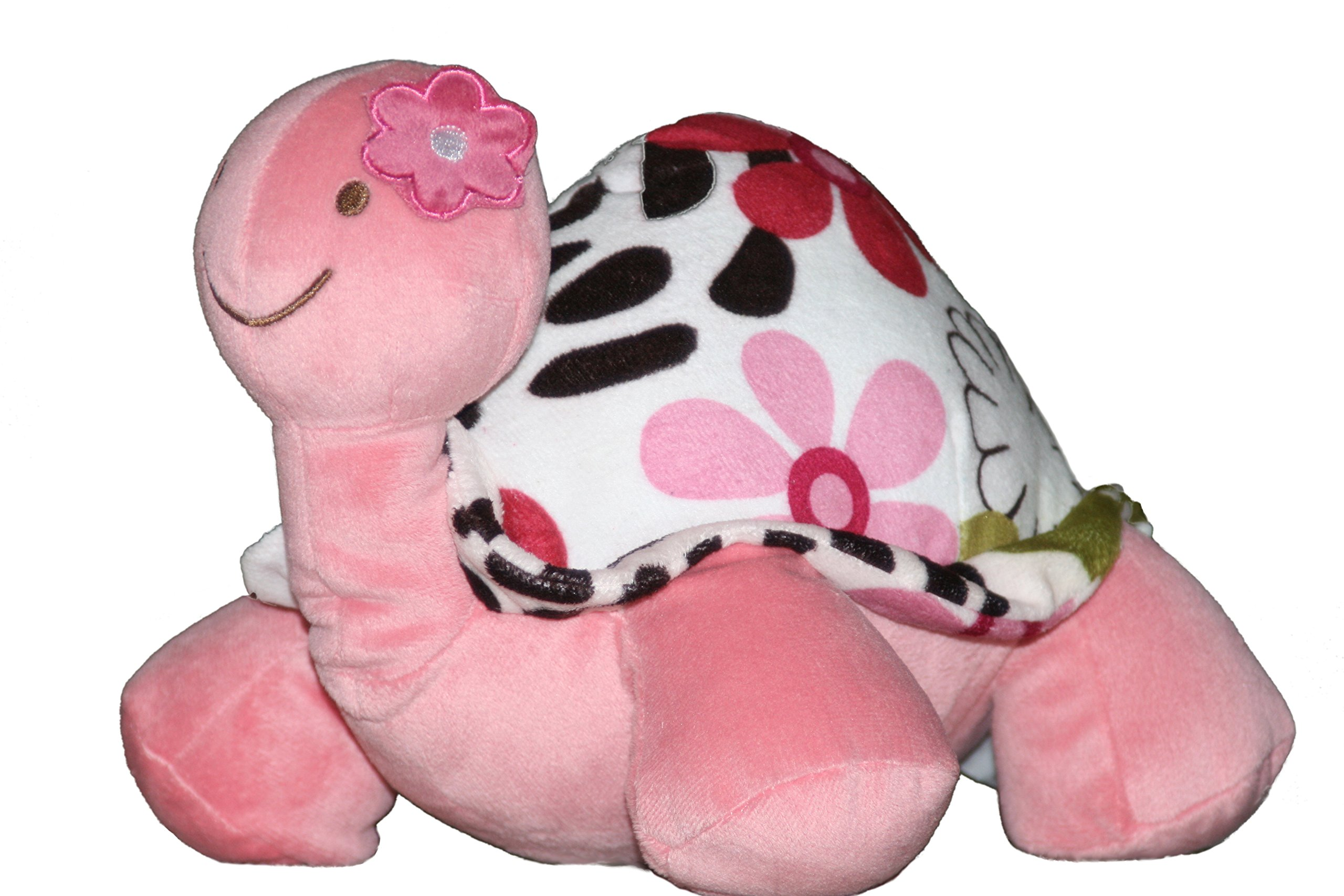 """Plush Turtle Stuffed Animal for Girls with Pink Flowers. A Perfect Baby Shower or Get Well Soon Gift - Soft ,Safe, and Cuddly for Kids. For the Crib, Nursery, or Playroom. 12""""x10""""x8"""""""