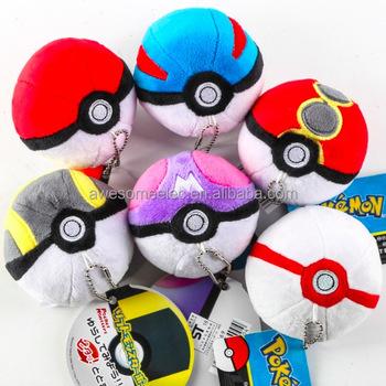 12pcs Set Pokemon Pokeball Master Ball Oranment Plush Toy Pendant