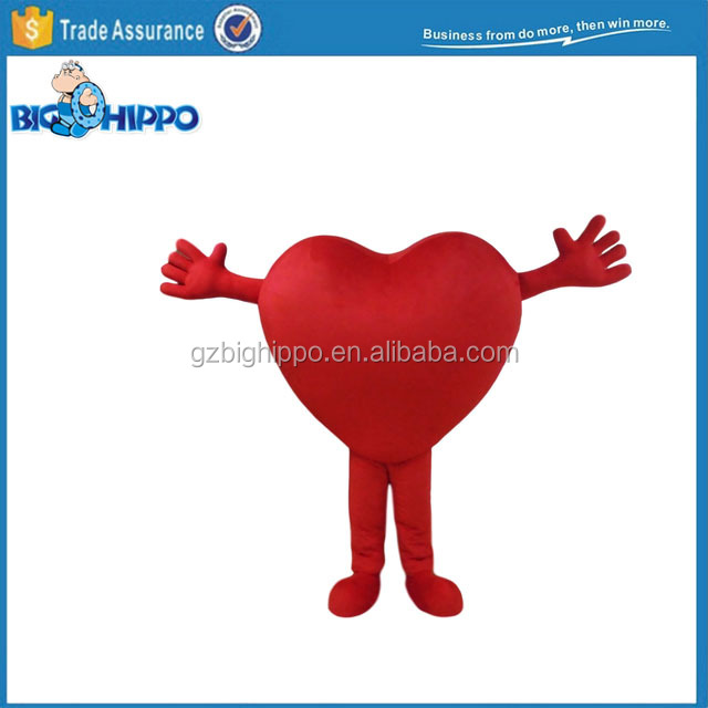 Red Heart Shape Mascot Costume