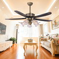 China electric bathroom rechargable fancy ceiling fan light with remote