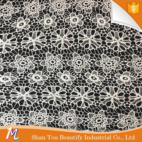New design polyester guipure water soluble lace fabric