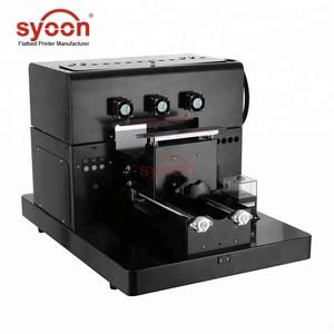 2018 Syoon Semi Auto A4 UV Flatbed Printer for TPU phone case,T shirt,PVC,Metal,Glass,Pen,etc