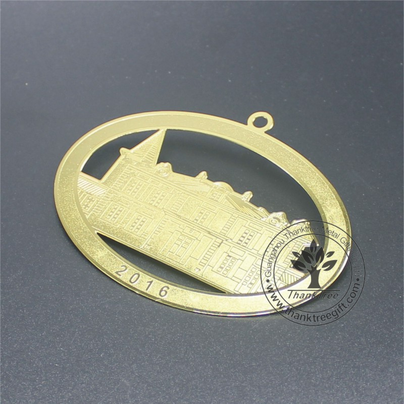 metal gift & craft gold plated museum souvenir ornament