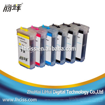 Lifei New Refill Ink Cartridge With Chip For Hp 72 For Hp ...