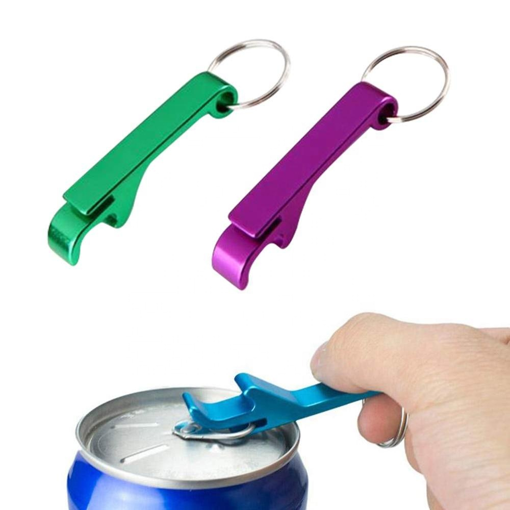 Multi-Colored Aluminum Key Chain Beer Bottle Opener, Pocket Small Can Opener Keychain Ring