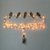 Light up battery powered led open signs LED lights home decoration