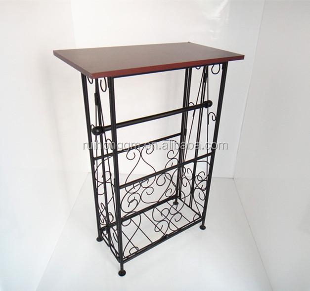 Metal frame Iron Brace French Style Kitchen Bathroom Side Table. Metal Frame Iron Brace French Style Kitchen Bathroom Side Table