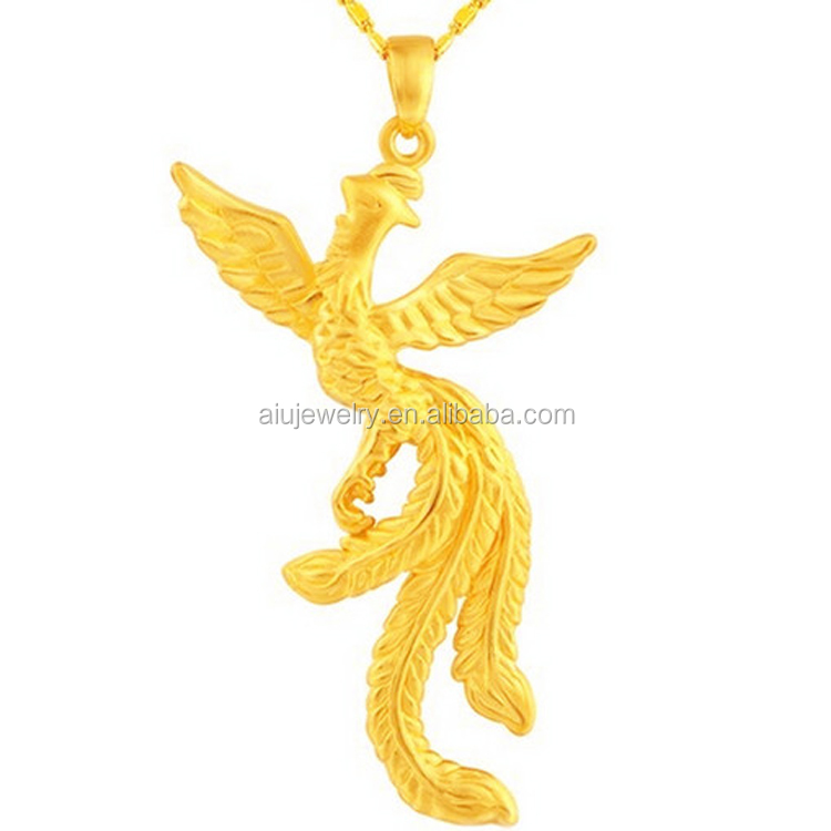 Latest Custom Jewelry 3d Craft Phoenix Gold Pendant Designs - Buy ...