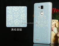 elegant flower print case for huawei mate 7,royal style case cover for huawei mate 7