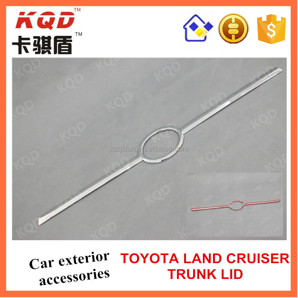 * Car chrome accessories ABS plastic trunk lid for toyota land cruiser China manufacturer