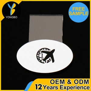 Factory Direct Small Metal Paper Clip Silk Screen Printing / Engrave Logo Money Clip Of Higih Quality