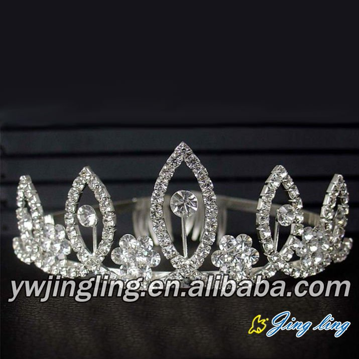 fashion flower and leaf pageant tiara