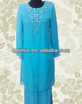 National Costume Islamic Fashion Design Baju Kurung For Wholesale