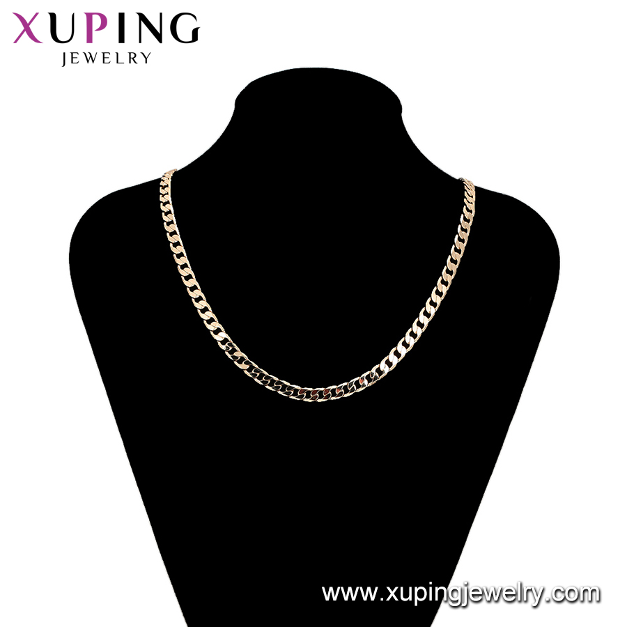 45357 Xuping  Jewelry Fashion 18K Gold Plated  Men  Chain Necklaces