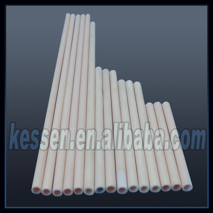 High Pure Ivory Thermocouple Protection 99 Alumina Pipe