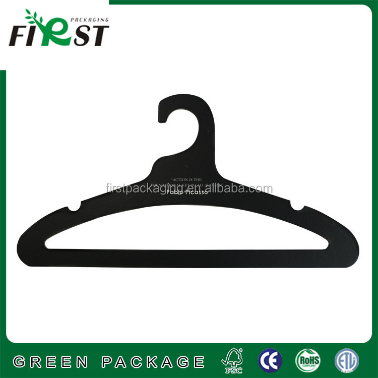Cardboard Paper hanger for display,Recycled Colorful Cardboard Hanger For Clothes