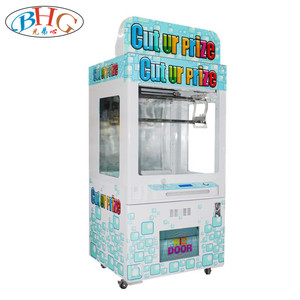 2018 cut ur prize toy scissors crane machine coin operated scissors cut gift machine for sale
