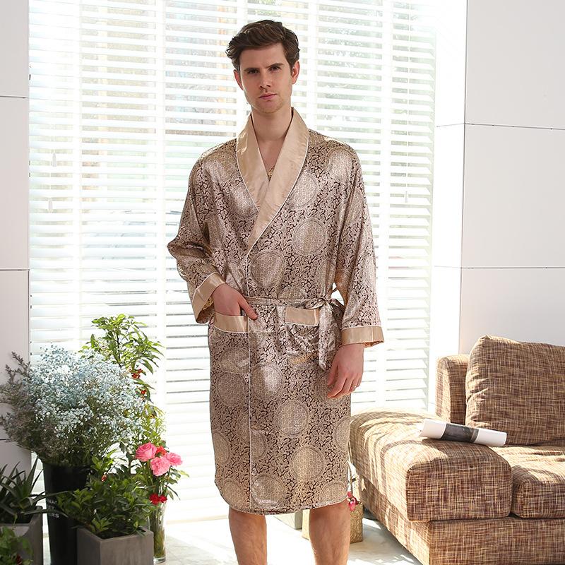 2018บุรุษชุดนอนเซ็กซี่ขายส่งที่มีคุณภาพสูงชุดนอนผ้าไหม