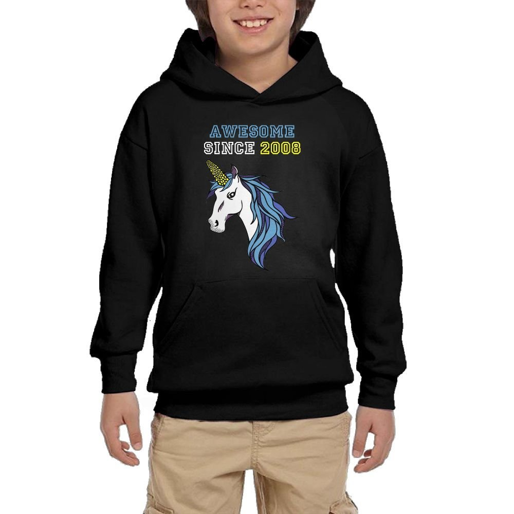 Since 2008 Cartoon Youth Athletic With Pocket Hoodies Graphic Pullover Sweatshirts