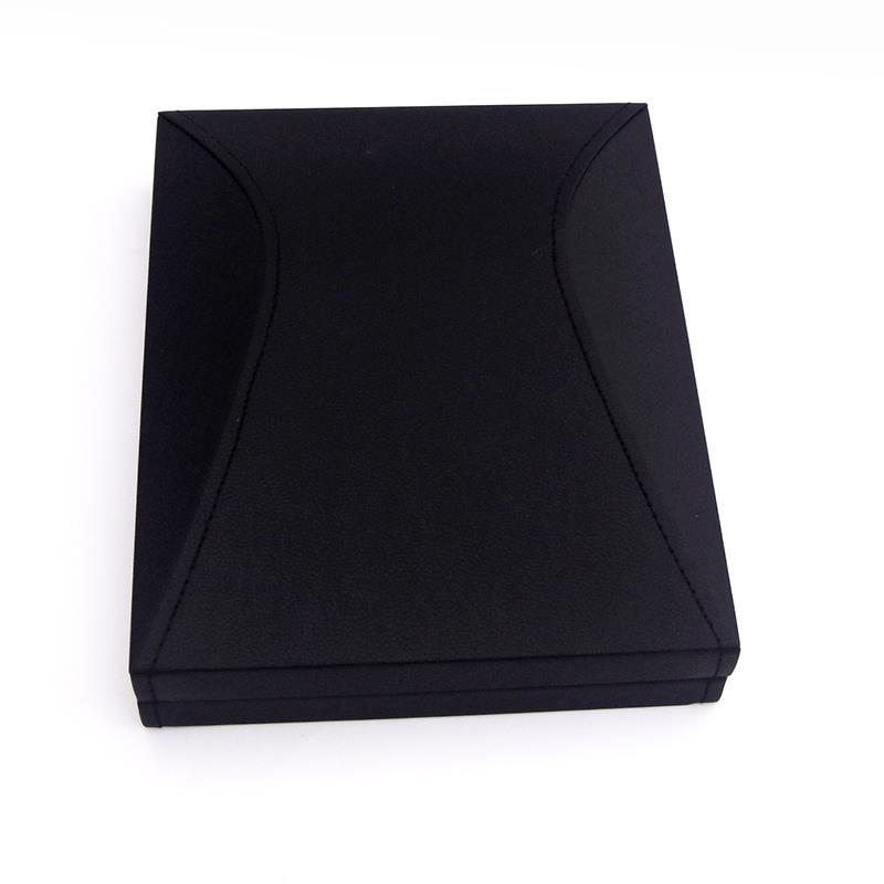 Promotion customized faux leather black ladies gift box for jewelry packaging