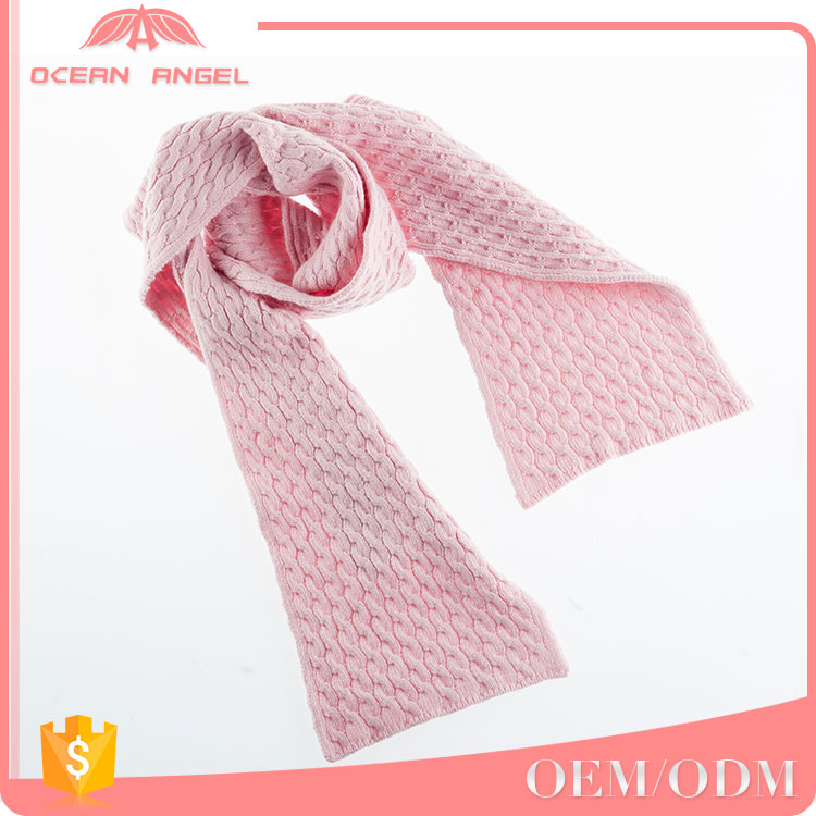 Promotional gift high quality stocklot multipurpose pink women girl scarf