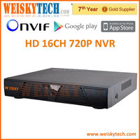 Weisky nvr 16 channel h.264 HD Economy Onvif and P2P security cctv 16ch 720P ip camera nvr