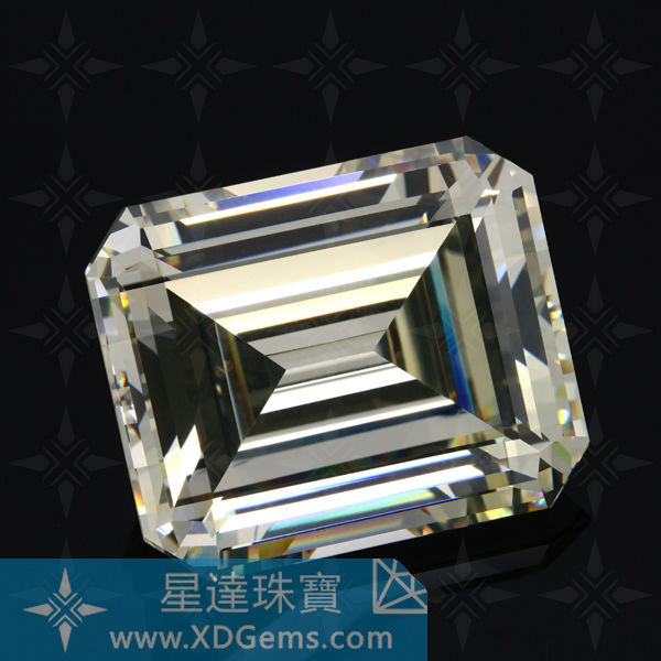 High Quanlity Baguette shape Emerald cut White Synthetic Cubic Zirconia