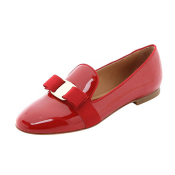 22c98ecd4c1 latest ladies most comfortable flat shoes for work women basic shoes red  patent leather flat pumps