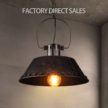 Heavey metal Loft American industrial vintage iron pendant light for Balcony Stair Aisle decrations